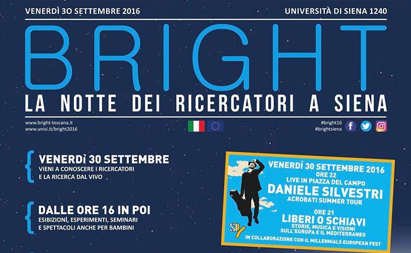Bright. La notte dei ricercatori in Toscana