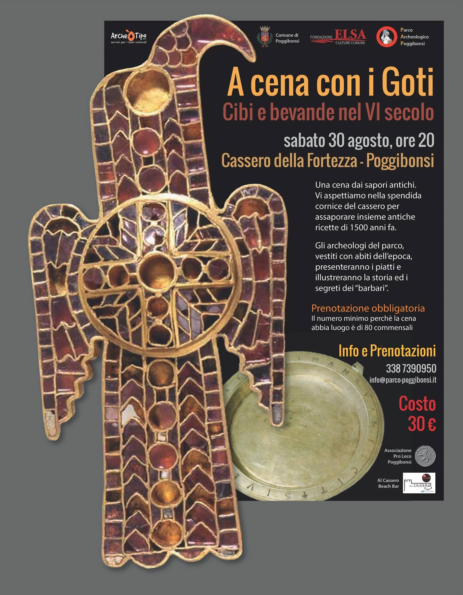 A cena con i Goti. Cibi e bevande nel VI secolo (sabato 30 agosto 2014)