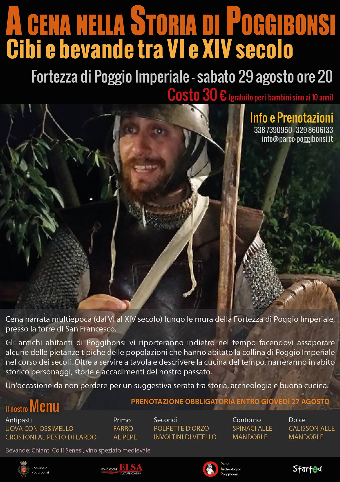 A cena nella Storia di Poggibonsi. Cibi e bevande tra VI e XIV secolo (Poggibonsi, 29 agosto 2015)