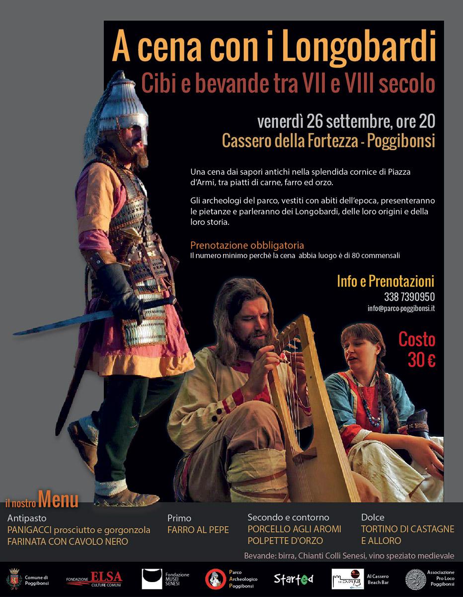 A cena con i Longobardi.  Cibi e bevande tra VII e VIII secolo (venerdì 26 settembre 2014, ore 20)
