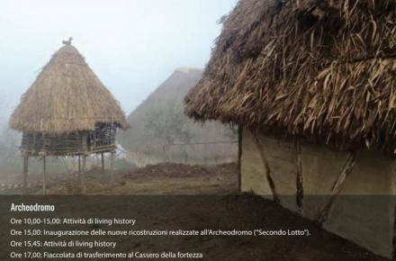 Inaugurazione delle nuove ricostruzioni (Archeodromo, sabato 16 gennaio 2016 ore 15)